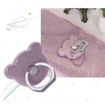 OEMNalleBjörn Glitter Ringhållare till Mobiltelefon - Lila