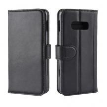 A-One BrandGenuine Split Plånboksfodral till Samsung Galaxy S10e - Svart