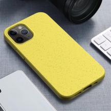 Wheat Straw Eco-Vänling Mobilskal iPhone 12 Pro Max - Gul