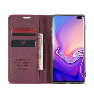 CASEME Plånboksfodral för Samsung Galax S10 - Röd