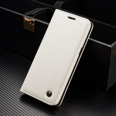 Caseme Oil Wax Plånboksfodral Samsung Galaxy S8 Plus - Vit