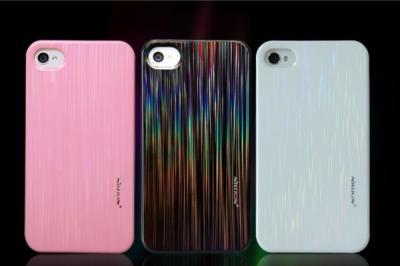 Nillkin Dynamic Baksideskal tillApple iPhone 4 /4s + Skärmskydd (Rosa)