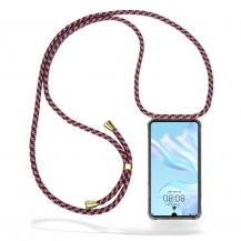 CoveredGear-NecklaceCoveredGear Necklace Case Huawei P30 - Red Camo Cord