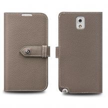 QIALINOQialino Exklusivt Plånboksfodral till Samsung Galaxy Note 3 N9000 (Sand Brown)