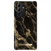 iDeal of SwedeniDeal Fashion Skal Samsung Galaxy S21 Ultra - Golden Smoke Marble
