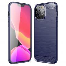 A-One BrandCarbon Fiber Texture Skal iPhone 13 Pro - Blå