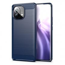 HurtelCarbon TPU Mobilskal Xiaomi Mi 11 - Blå