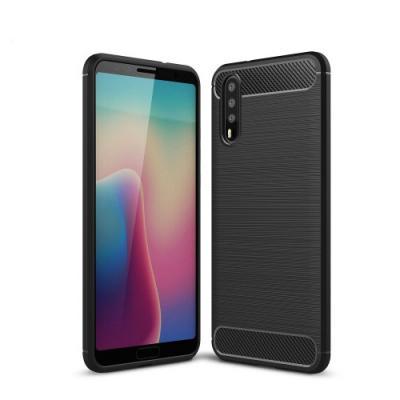 Carbon Brushed Mobilskal till Huawei P20 - Svart