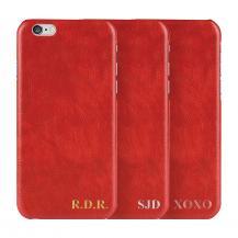 TheMobileStoreDesigna själv - iPhone 6/6S konstläder skal - Röd