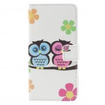 OEMPlånboksfodral till LG G5 - Owl Couple