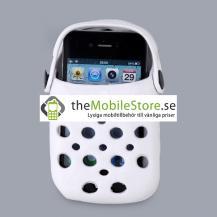 OEMFoam Rubber Slipper hållare till iPhone 4G (Vit)