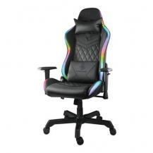 Deltaco GamingDeltaco RGB Gamingstol i konstläder, 332 olika RGB-lägen, svart