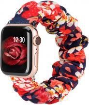 OEMArmband Scrunchie Apple Watch 1/2/3/4/5/6/SE 38/40mm Rosa Liljor