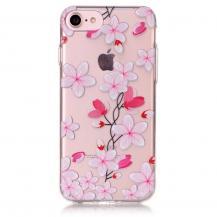A-One BrandFlexiSkal till iPhone 7/8/SE 2020 - Rosa Blommor