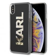 KARL LAGERFELDKarl Lagerfeld skal iPhone Xs Max Svart Karl logo Glitter