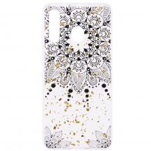 OEMGlitter Mobilskal till Samsung Galaxy A50 - Black Flower