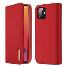 Dux DucisDUX DUCIS Äkta Läder Plånboksfodral iPhone 12 Mini - Röd