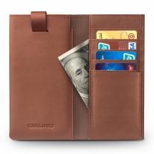 QIALINOQialino Universal Pouch Wallet i äkta läder - Brun