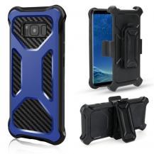 OEM2-in-1 mobilskal med bältesfodral till Galaxy S8 - Blå