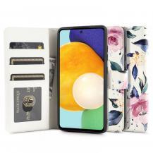 Tech-ProtectTech Protect - Plånboksfodral Galaxy A52 5G - Floral Vit