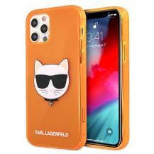 KARL LAGERFELDKarl Lagerfeld Skal iPhone 12 Pro Max Glitter Choupette Fluo - Orange