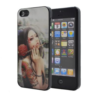 3D Baksideskal till Apple iPhone 5 5S SE (Flower Girl) billigt ... 8294d1d07c62c
