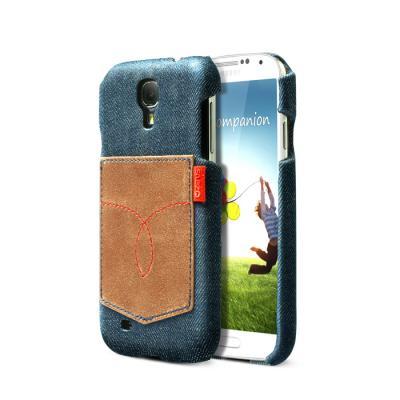 Zenus denim vintage pocket bar skal till Samsung Galaxy S4 i9500