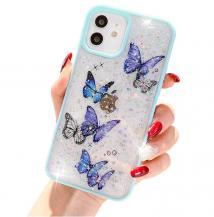 A-One BrandBling Star Butterfly Skal till iPhone 13 - Turkos