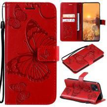 OEMFjärilar Plånboksfodral iPhone 13 - Röd