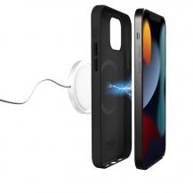 PuroPuro SKYMAG Läder Skal iPhone 13 Pro Max - Svart