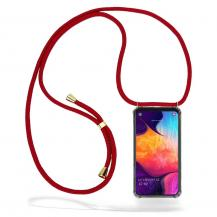 CoveredGear-NecklaceCoveredGear Necklace Case Samsung Galaxy A50 - Maroon Cord