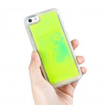 OEMLiquid Neon Sand skal till iPhone 5/5s/SE - Grön
