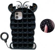 Fidget ToysCrab Pop it Fidget Skal till iPhone 11 - Svart