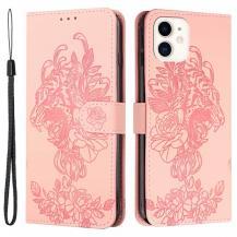 A-One BrandTiger Flower Plånboksfodral till iPhone 12 Mini - Rosa