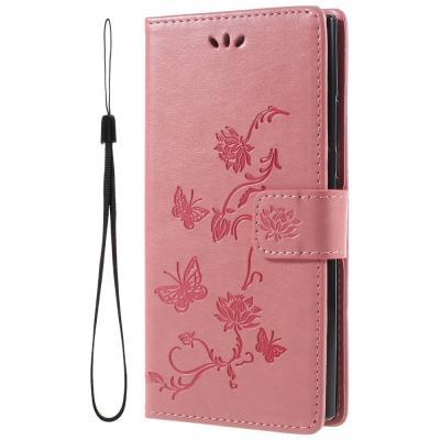 Butterfly Plånboksfodral till Sony Xperia L2 - Rosa