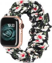 OEMArmband Scrunchie Apple Watch 1/2/3/4/5/6/SE 38/40mm Liljeblomma