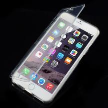 MercuryFlexiskal + Front Flap Case till Apple iPhone 6(S) Plus - Transparent