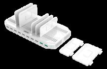 DeltacoDeltaco USB Laddningsstation 10xUSB-A, Quick Charge 3.0 - Vit