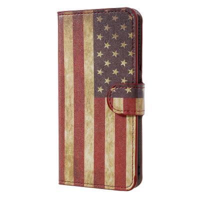Plånboksfodral till Huawei Honor 8 Lite - Amerikanska Flaggan
