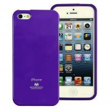 MercuryMercury Color Pearl Jelly FlexiCase Skal till Apple iPhone 5/5S/SE (Lila)