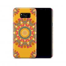 Skal till Samsung Galaxy S8 Plus - Blommigt mönster - Orange