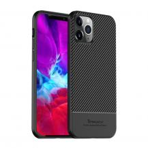 IPAKY Carbon Fiber Skal iPhone 12 Pro Max - Svart