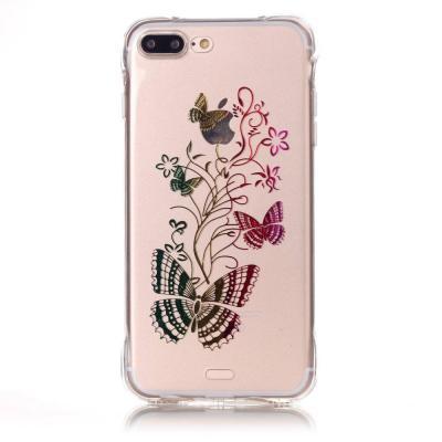 TPU Mobilskal till iPhone 7 Plus - Färgrika Fjärilar