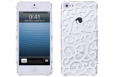 Mönstrat Baksideskal till Apple iPhone 5/5S/SE (Vit)