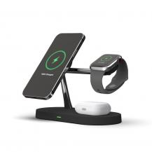 Tech-ProtectA12 3in1 Magnetic Magsafe Wireless Charger - Svart