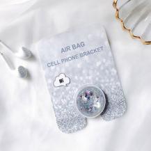 A-One BrandLiquid Glitter Ringhållare till Mobiltelefon - Silver