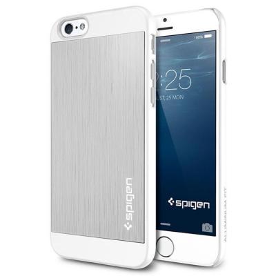 SPIGEN Aluminium Fit Skal till Apple iPhone 6/6S (Silver)