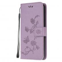 A-One BrandImprint Butterfly Plånboksfodral till Galaxy S21 Ultra - Lila