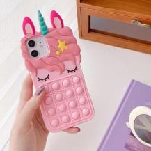 Fidget ToysUnicorn Pop it fidget skal till iPhone 11 - Rosa