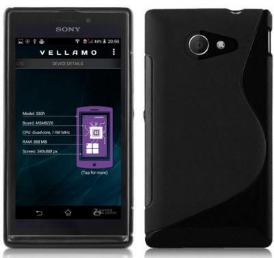Flexicase Skal till Sony Xperia M2 - Svart